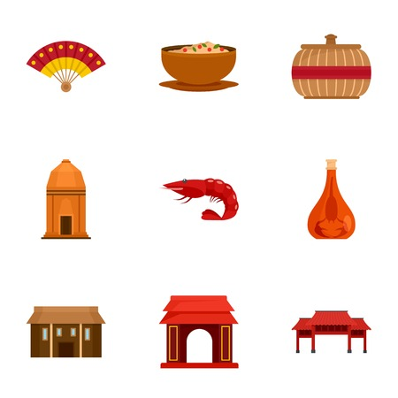 Welcome vietnam icon set. Flat set of 9 welcome vietnam vector icons for web design