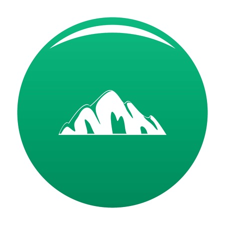 Beautiful mountain icon vector green