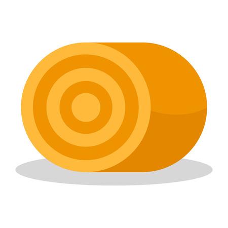 Farm yellow grass stack icon. Flat illustration of farm yellow grass stack vector icon for web design