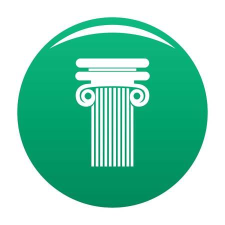 Column with curl icon vector green Иллюстрация