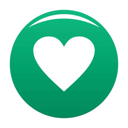 Dull heart icon green