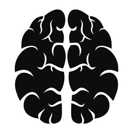 Human brain icon, simple style