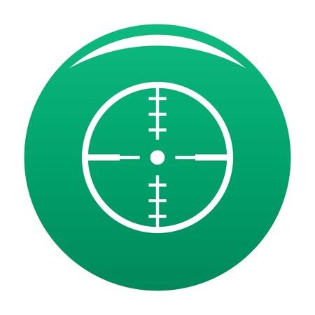 Thing radar icon green Stock Photo