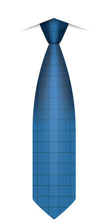 Blue tie icon, realistic style Stock Photo