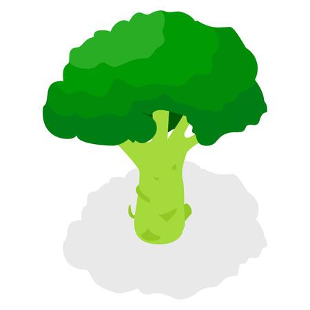 Broccoli pictogramserie. Isometrische set van broccoli vector iconen voor webdesign geïsoleerd op een witte achtergrond Vector Illustratie