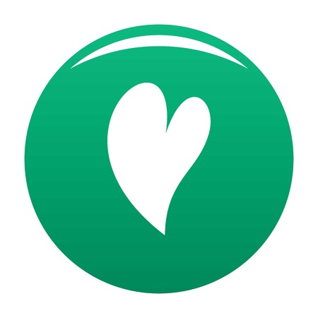 Deaf heart icon vector green