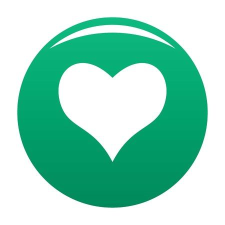 Genre coeur icône vecteur vert Vecteurs