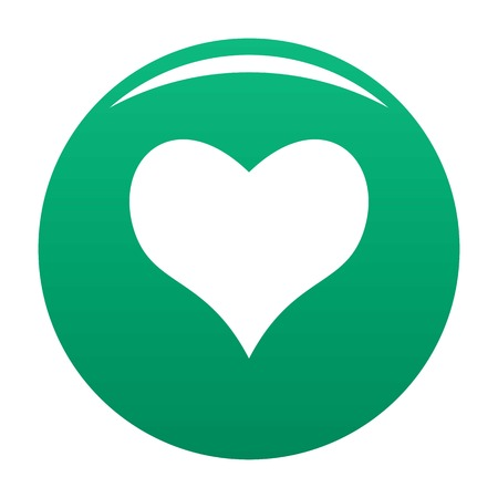 Kind heart icon vector green