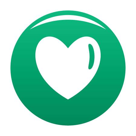 Warm human heart icon vector green