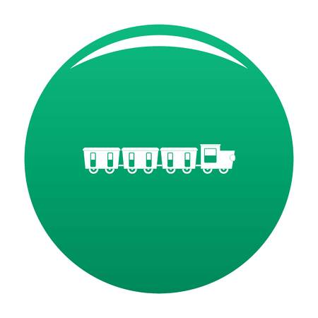Reserved carriages icon vector green