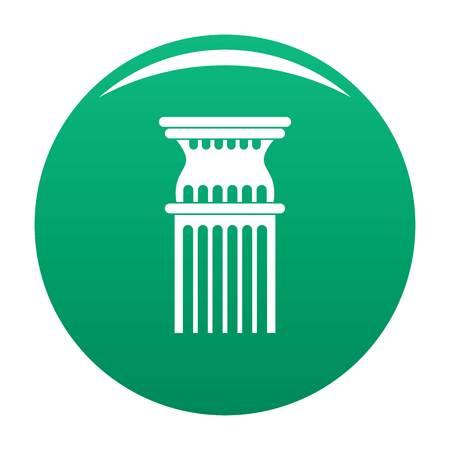 Column icon vector green