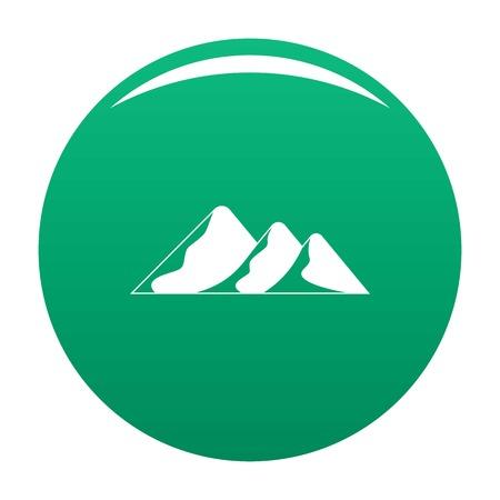 Travel to mountain icon vector green Banco de Imagens - 109981102