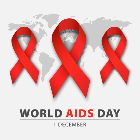World aids day concept background, realistic style