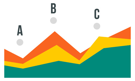 Point chart icon. Flat illustration of point chart vector icon for web design