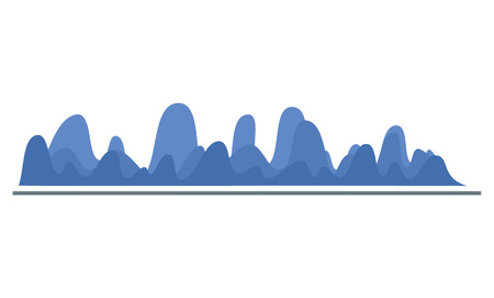 Wave diagram icon. Flat illustration of wave diagram vector icon for web design