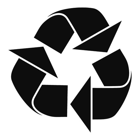 Recycle sign icon, simple style