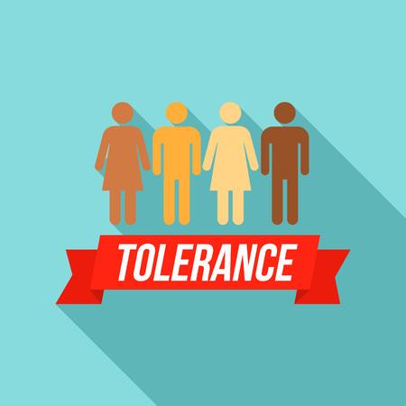 Logotipo de tolerancia de personas, estilo plano