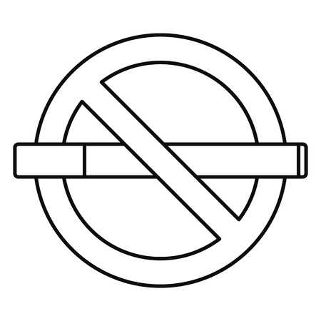 Public no smoking icon, outline style