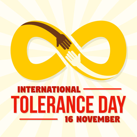Infinite tolerance day concept background, flat style