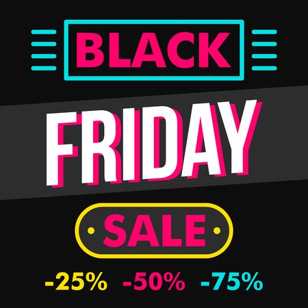 Black friday sale concept background, flat style