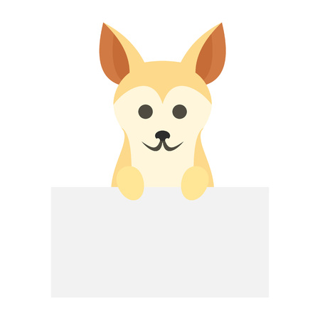 Dog on wall icon, flat style
