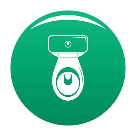 Restroom icon. Simple illustration of restroom vector icon for any design green