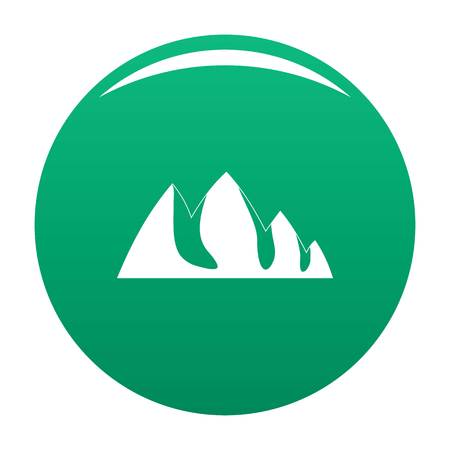Rock climbing icon. Simple illustration of rock climbing vector icon for any design green