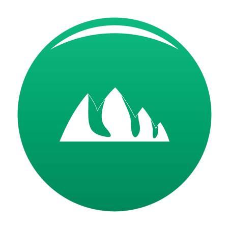 Rock climbing icon. Simple illustration of rock climbing vector icon for any design green Banco de Imagens - 110571078