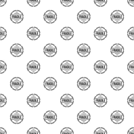 Fragile pattern seamless vector