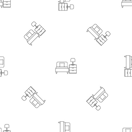 Sleep bed room pattern seamless vector