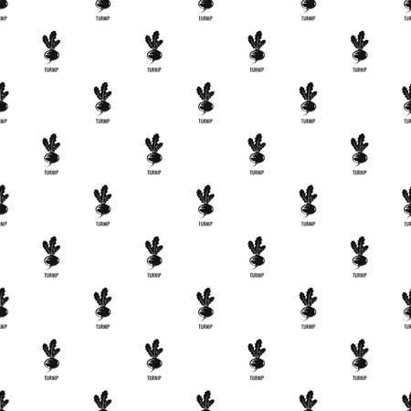 Turnip pattern seamless vector Illustration