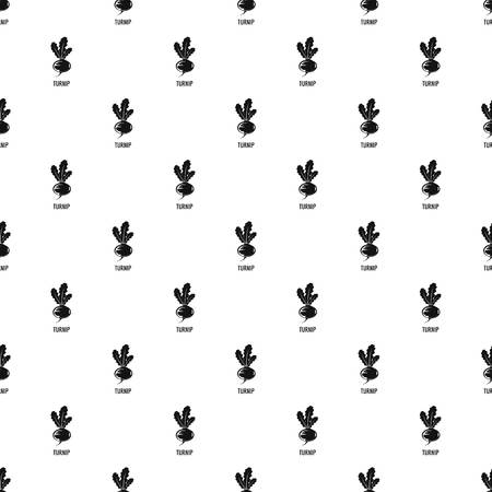 Turnip pattern seamless vector Иллюстрация