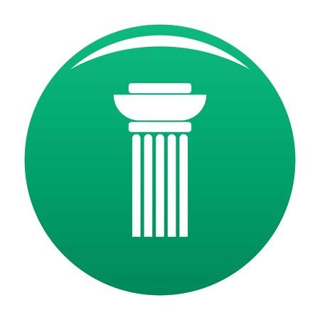 Continuous column icon vector green