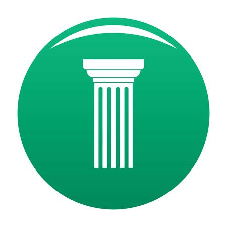 Triangular column icon vector green