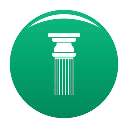 Rectangular column icon vector green