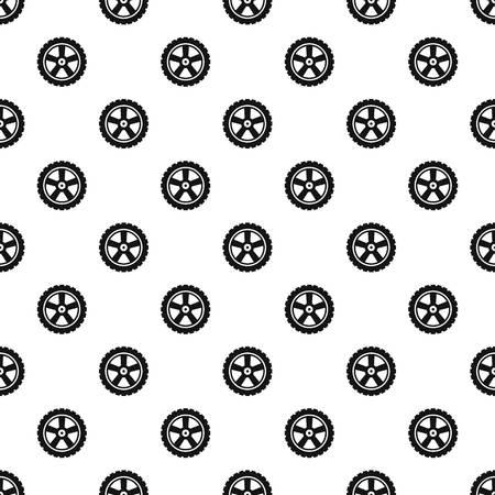 Transport tire pattern seamless vector