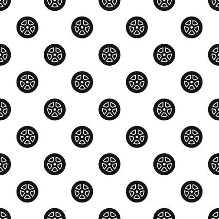 Wheel pattern seamless vector Vetores