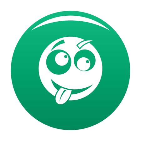 Smile icon vector green