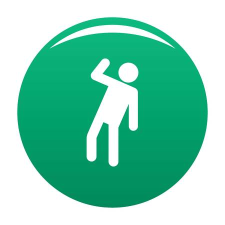 Stick figure stickman icon vector green