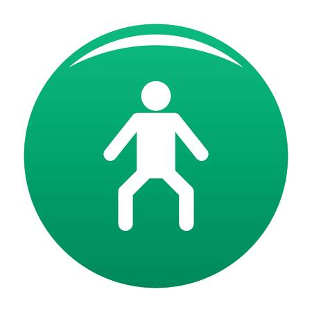 Stick figure stickman icon vector green  イラスト・ベクター素材