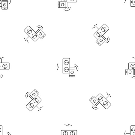 Smart control electricity pattern seamless vector repeat geometric for any web design Иллюстрация