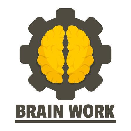 Logic brain work vector flat style