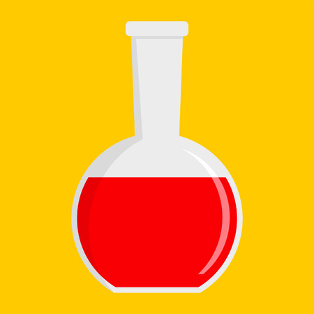 Red potion icon, flat style Stock Photo