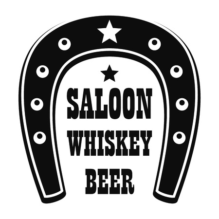 Beer western saloon icon simple style