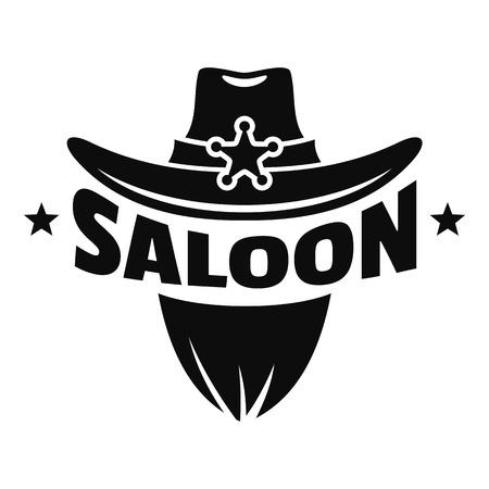 Saloon texas hat icon, simple style Foto de archivo - 110797895