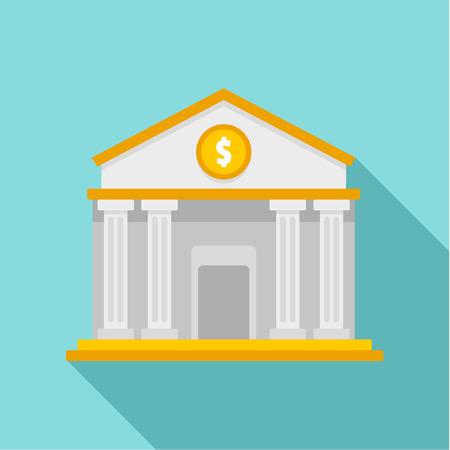 Money bank icon, flat style