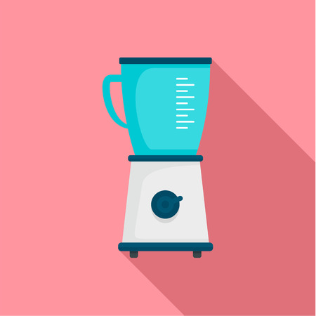 Food blender icon, flat style Stockfoto