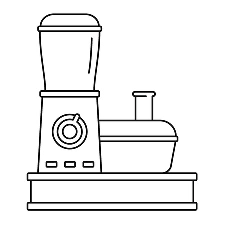 Food processor icon, outline style Stock Photo