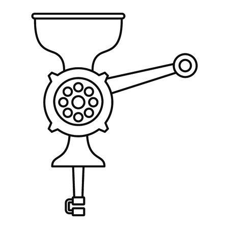Hand meat grinder icon, outline style 写真素材