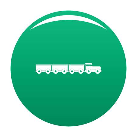 tourist train icon. Simple illustration of tourist train vector icon for any design green